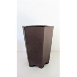 poterie hexagonale bonsai cascade 19.5x19.5x28cm