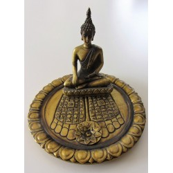 Brule encens Bouddha sur plateau