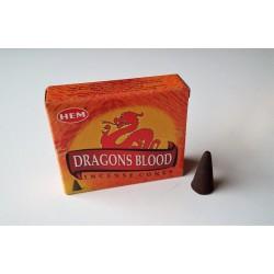 Encens indien Hem - dragons blood - cônes