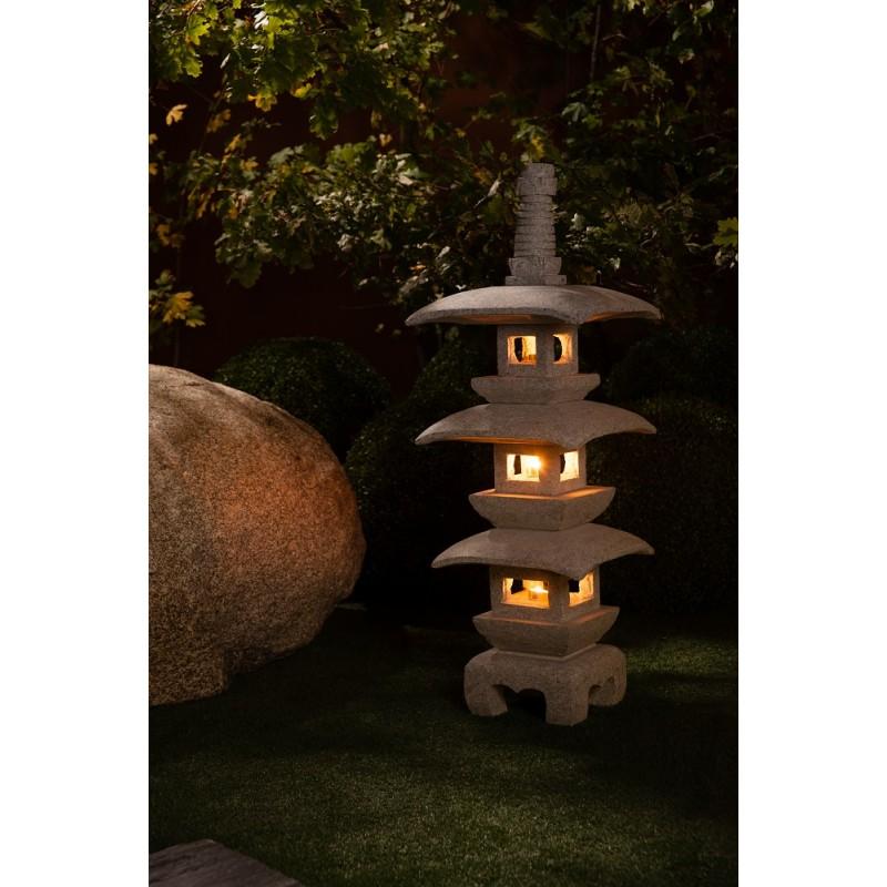 Pagode japonaise en granite kyoto lanterne pour jardin zen for Lanterne jardin zen