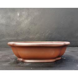 Poterie artisanale ovale 25x20x6.5cm