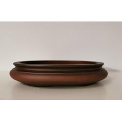 Poterie artisanale ovale 32x28x6.5cm