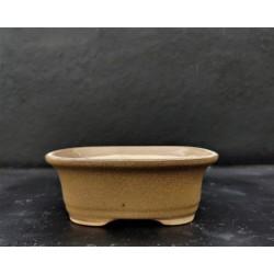 Poterie bonsai artisanale ovale 13x10x5cm