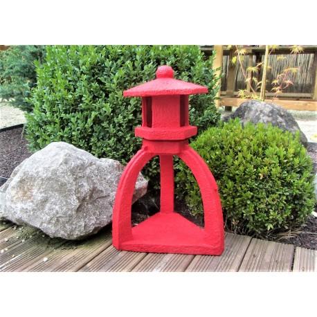 Lanterne pagode rouge hauteur 42cm