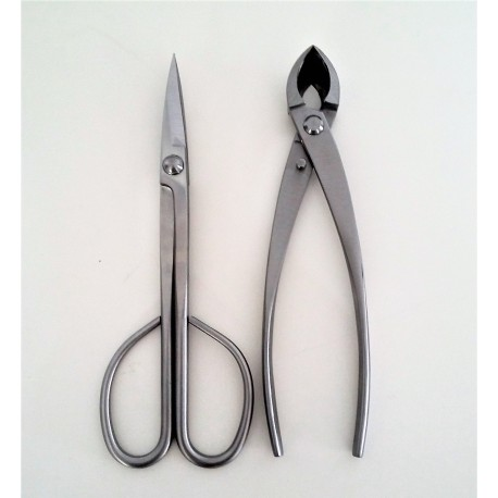 pack 2 outils bonsai en acier inoxydable - haute qualité