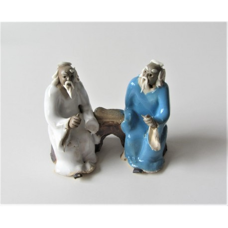 Figurines deux personnages Japonais  019B
