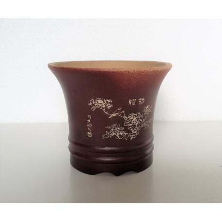 Poterie bonsai ronde diam 12cm haut 10cm