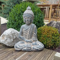 Bouddha assis en céramique