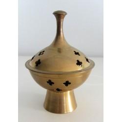 Brule encens en metal dorée