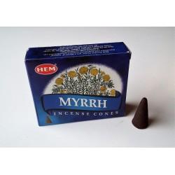 Encens indien Hem - myrrh - cônes