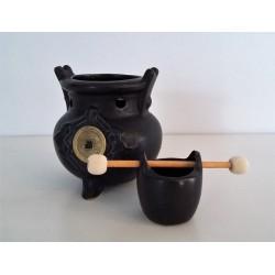 Brûleur Feng shui pièce de monaie chinoise