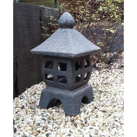 Lanterne en céramique couleur brune 30cm