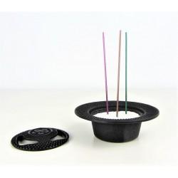 Brule-encens japonais en fonte Iwachu - noir