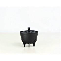 Brule-encens japonais en fonte Iwachu - bol noir