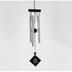 """Carillon à vent Feng Shui symbole """"Métal"""" 38cm"""