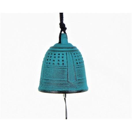 Carillon japonais en fonte turquoise Iwachu 5.5cm