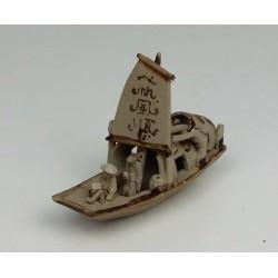 Bateau pêcheur miniature pour penjing 050