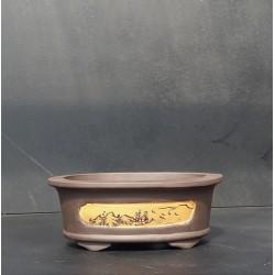 Poterie bonsai ovale 20x15x7.5cm