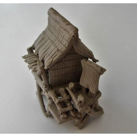 Maison sur piloti miniature pour penjing 013