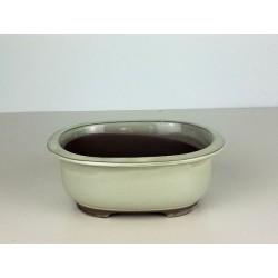 Poterie bonsai ovale émaillée 18x15x6.5cm
