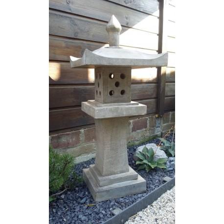 Lanterne en pierre bleue de chine hauteur 90cm
