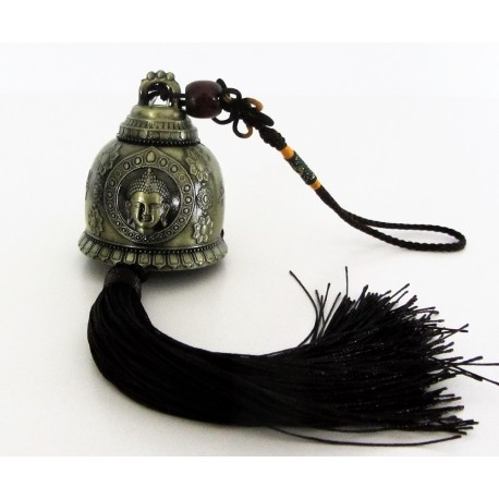 Clochette métal symbol Bouddha.