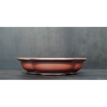 Poterie artisanale ovale 33x28x7.5cm