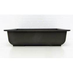 Pot rectangulaire brun en polypropylène 29x21x8cm.