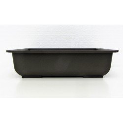 Pot rectangulaire brun en polypropylène 42x33.5x10.5cm.