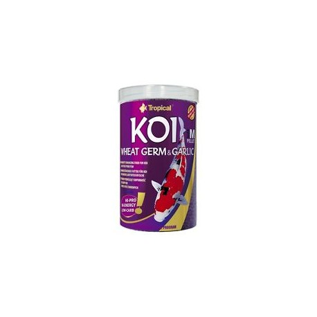 "Koi wheat germ and garlic pellet ""M"" 1litre"