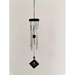 """Carillon à vent Woodstock Feng Shui symbole """"eau"""" 38cm"""