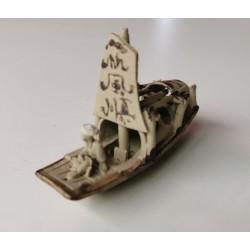 Bateau pêcheur miniature pour penjing