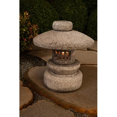 Lanterne en granit Tenka hauteur 35cm
