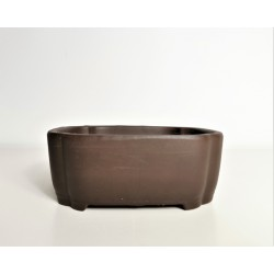 Poterie bonsai rectangulaire 16.5x13.5x6.5cm
