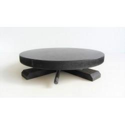 Plateau tournant rond en bois diamètre 20,5cm